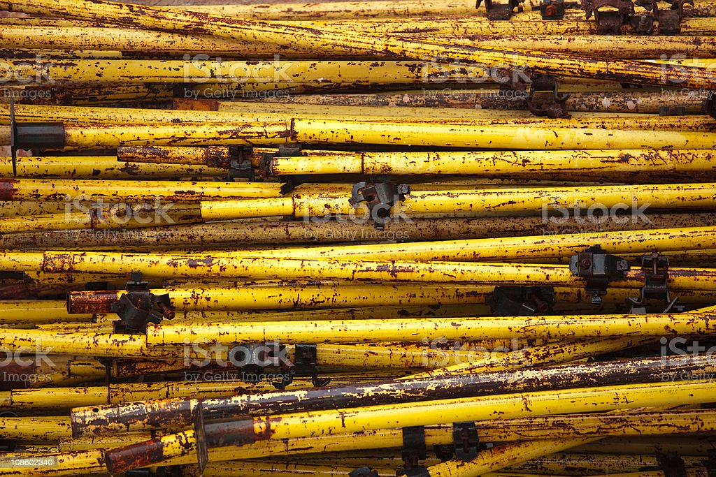 Rusted pipes with fastener royalty-free stock photo