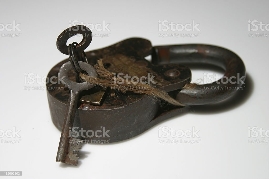 Rusted Prison Lock #2 royalty-free stock photo