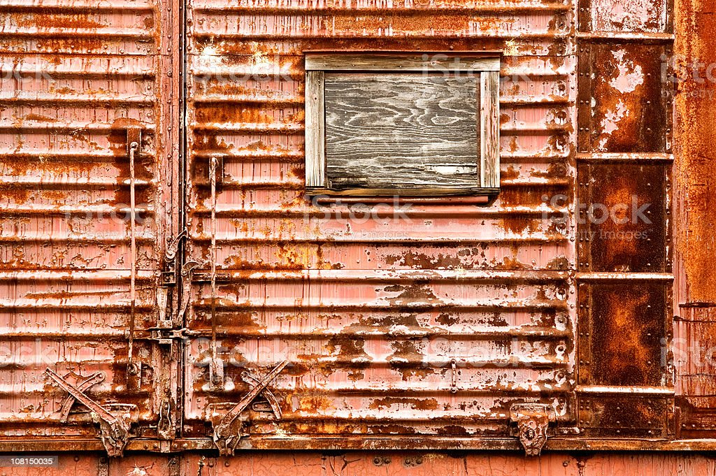 Rusted Rail Car royalty-free stock photo