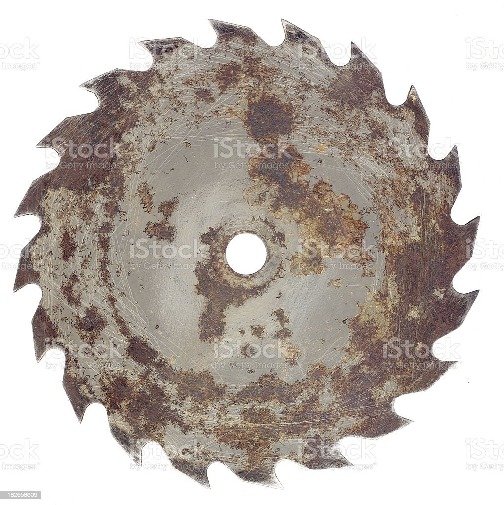 Rusted Saw Blade stock photo