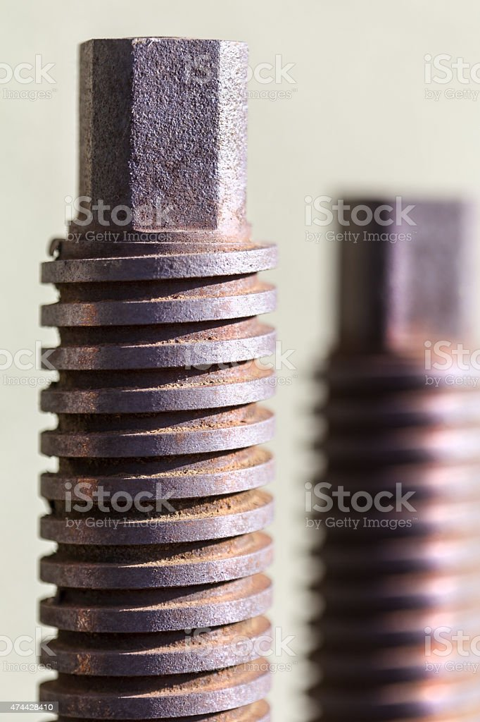 Rusted spirals.. stock photo