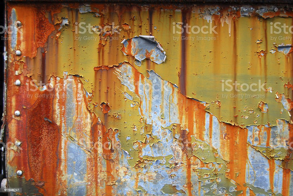 Rusted Steel and Paint royalty-free stock photo
