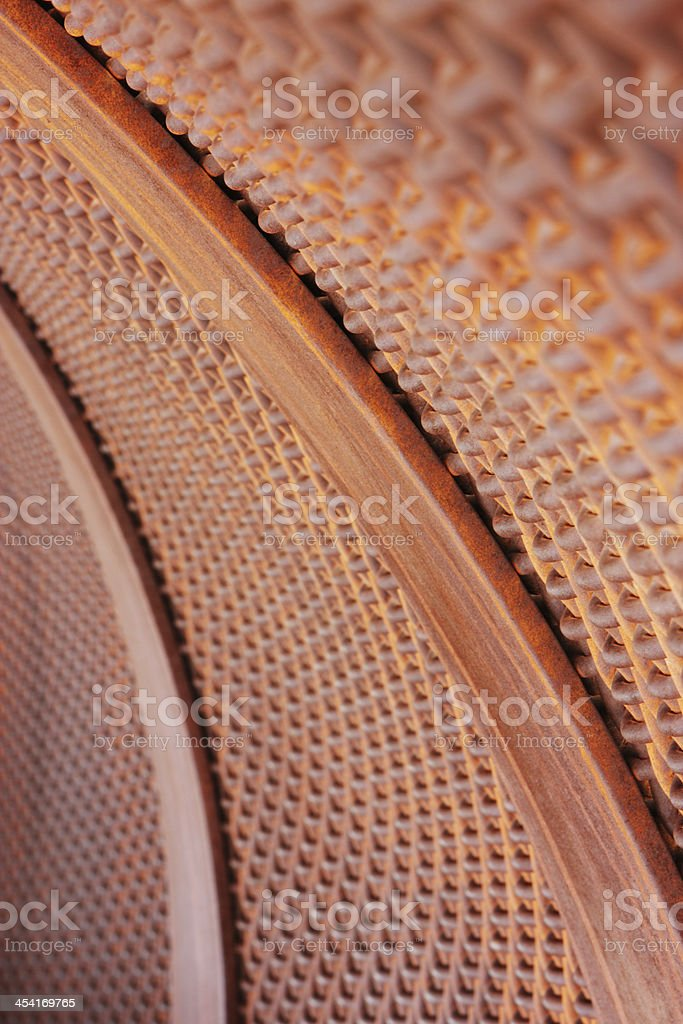 Rusted Steel Arch Metal Fabric royalty-free stock photo