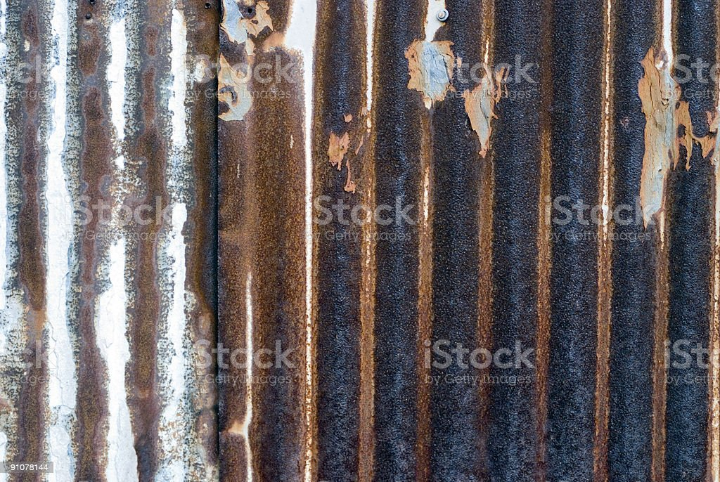 Rusted Tin royalty-free stock photo