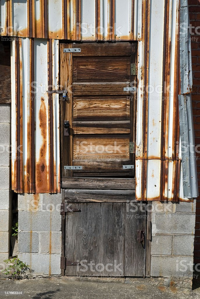 Rusted Weathered Doorway royalty-free stock photo