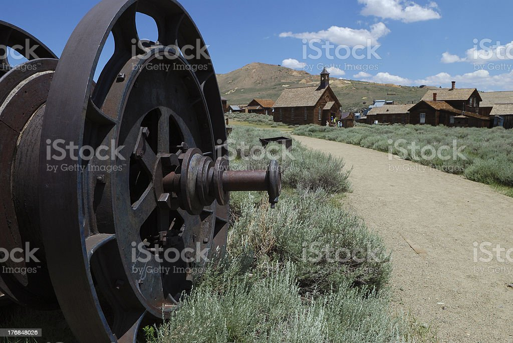 Rusted Wheel at Bodie royalty-free stock photo