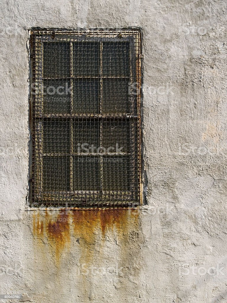 Rusted Window royalty-free stock photo