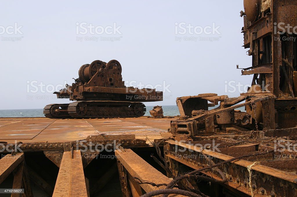 Rusted wreck royalty-free stock photo
