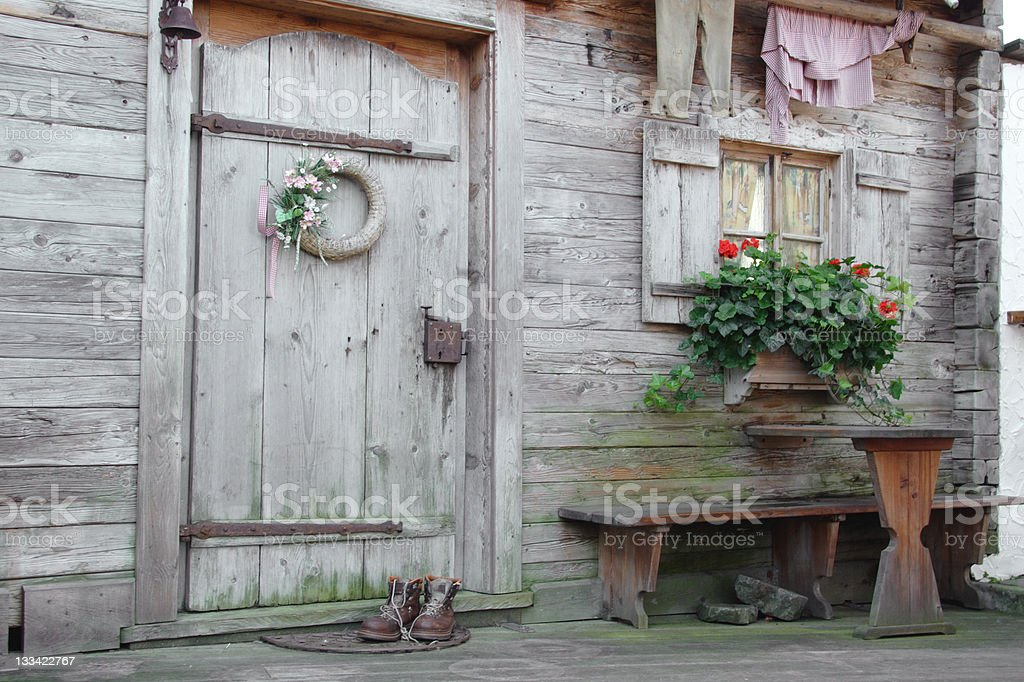 Rustic alpine home royalty-free stock photo