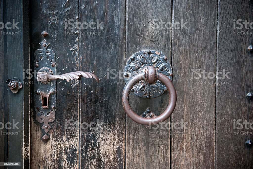 Rustic antique door royalty-free stock photo