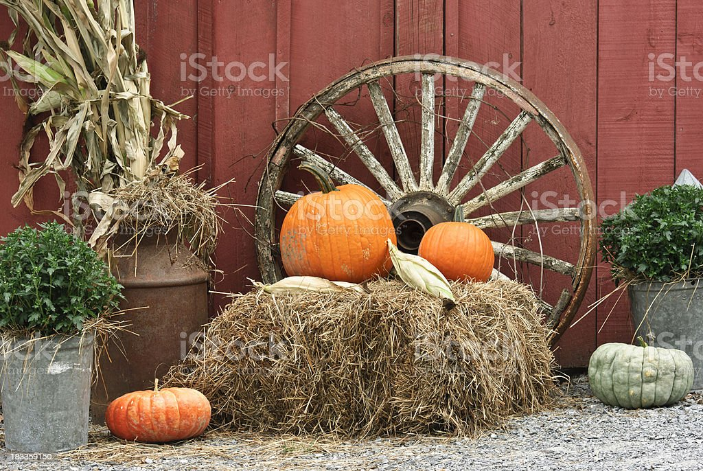 rustic autumn ornament royalty-free stock photo