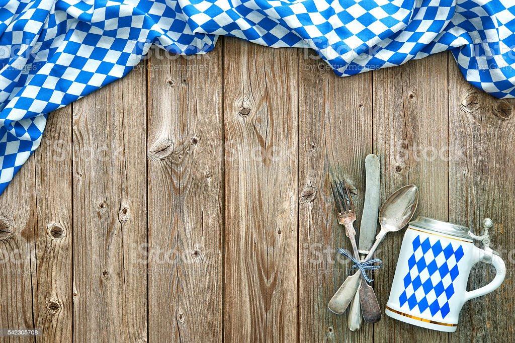 Rustic background for Oktoberfest stock photo