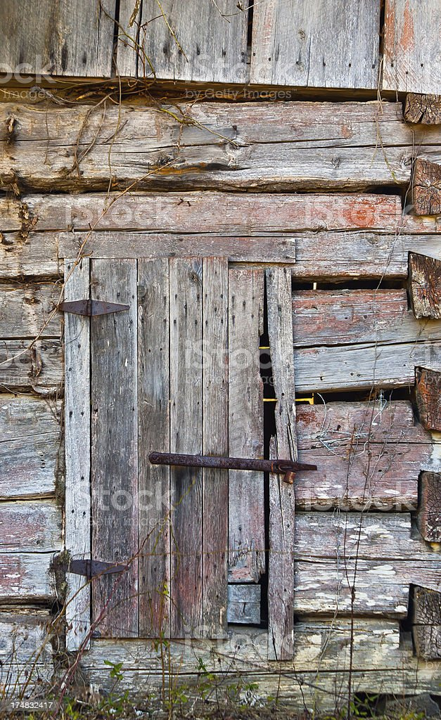 Rustic Barn Door royalty-free stock photo