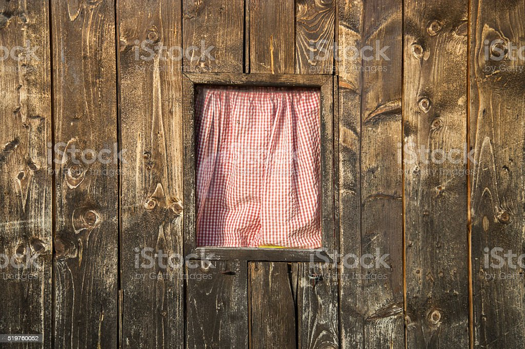 Rustic Barn Windows stock photo
