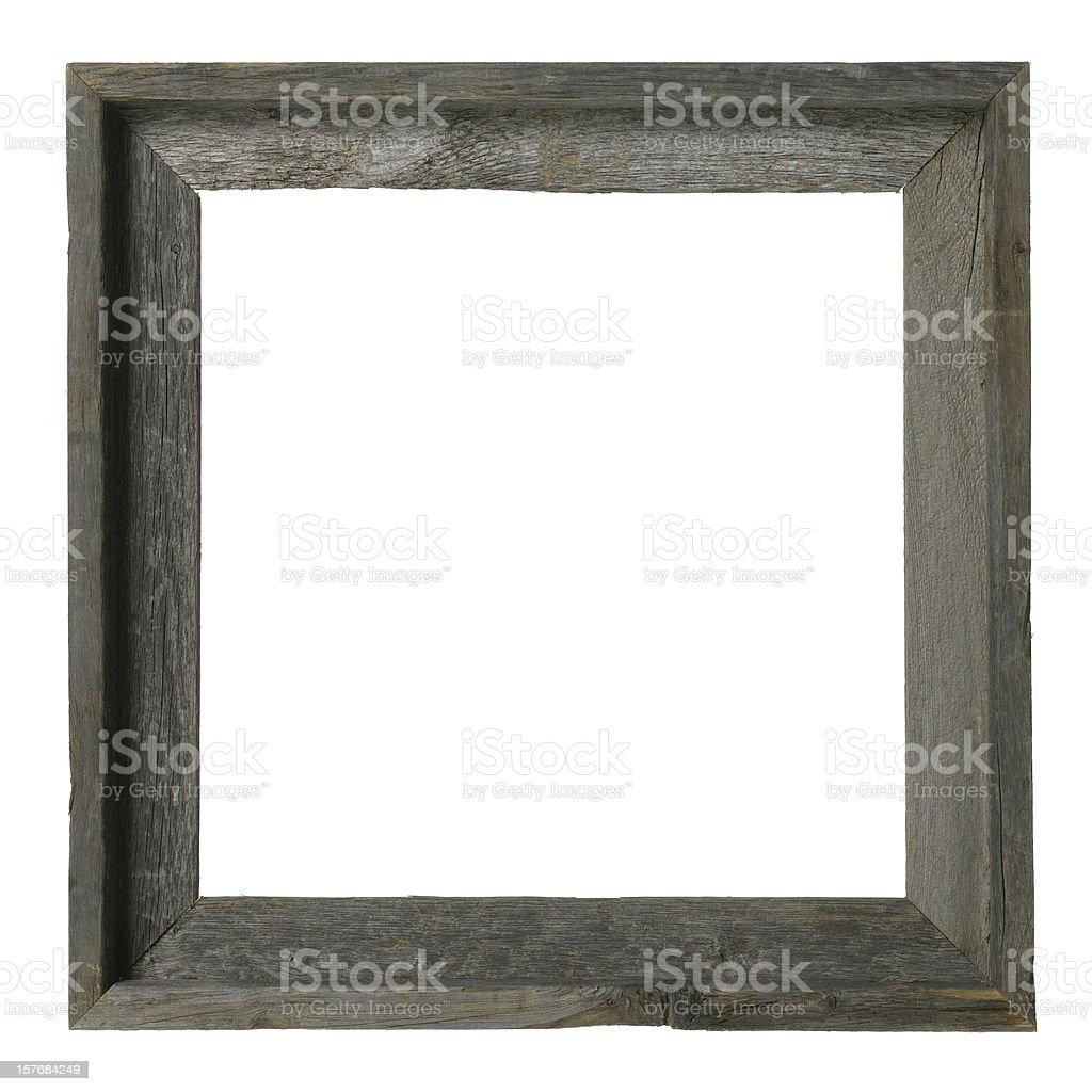 Rustic barnwood frame stock photo