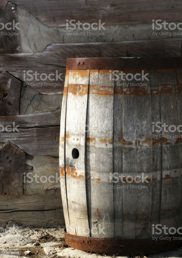 Rustic Barrel royalty-free stock photo
