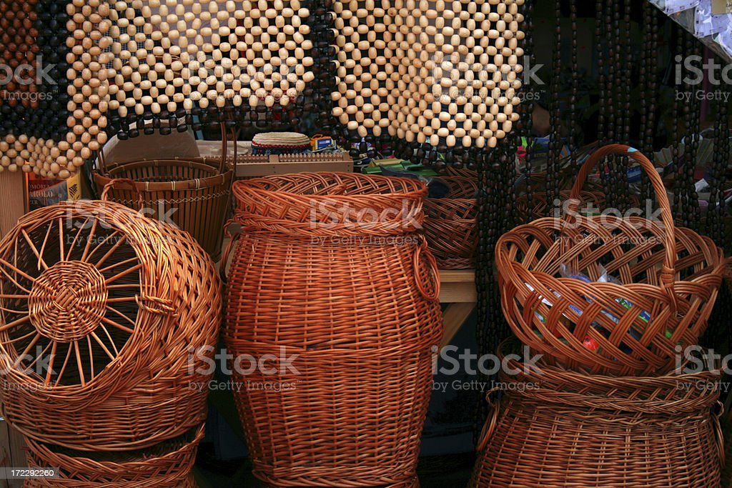 rustic basket royalty-free stock photo