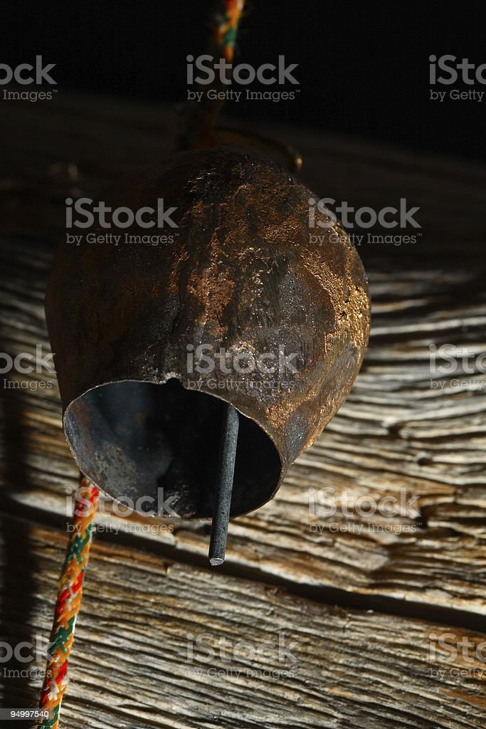 Rustic bell royalty-free stock photo