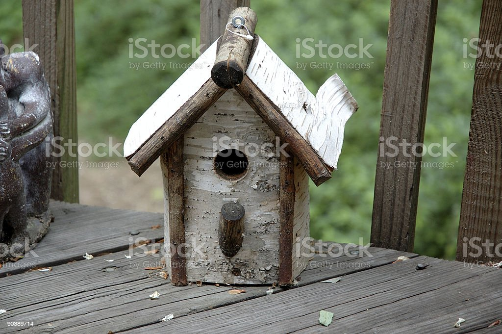 Rustic Bird House royalty-free stock photo