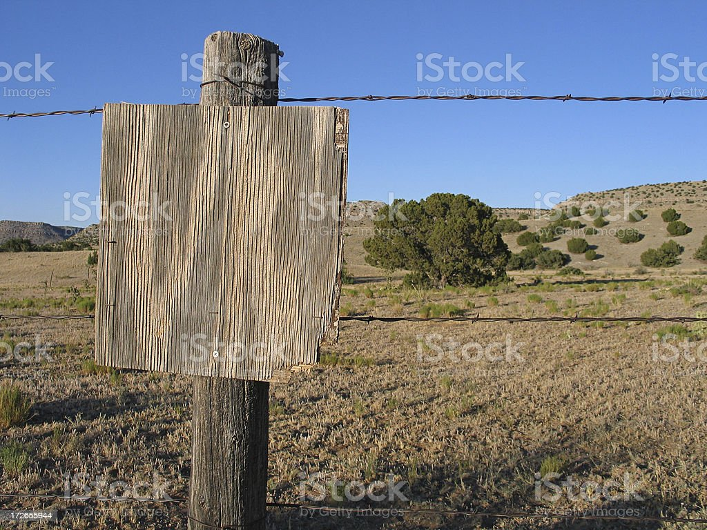 Rustic Blank Sign royalty-free stock photo