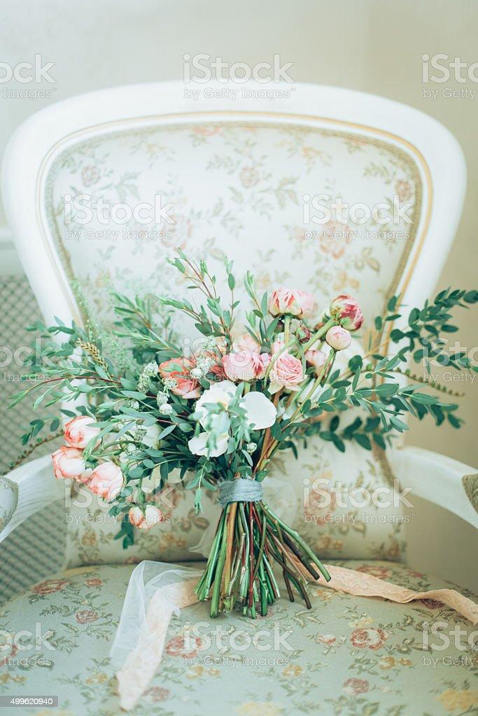 Rustic bouquet stock photo