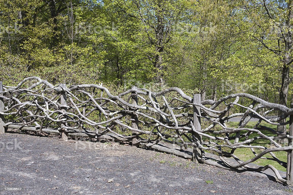 Rustic Branch Fence royalty-free stock photo