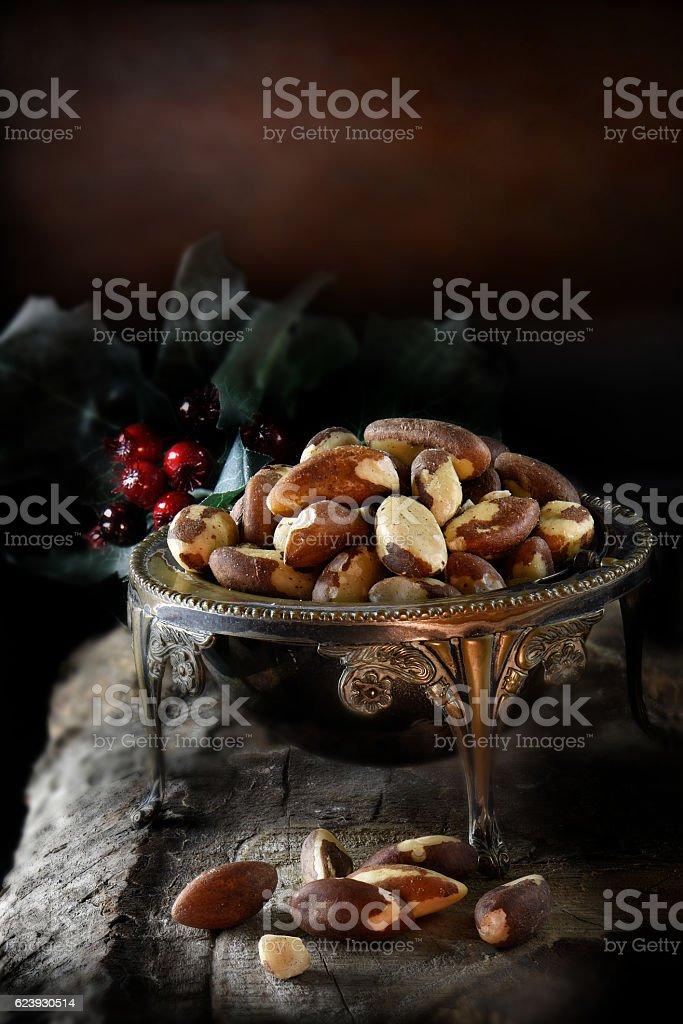 Rustic Brazil Nuts stock photo