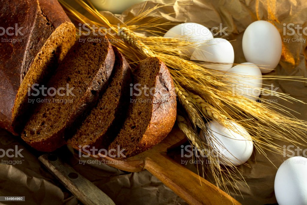 Rustic Breads Still Life stock photo