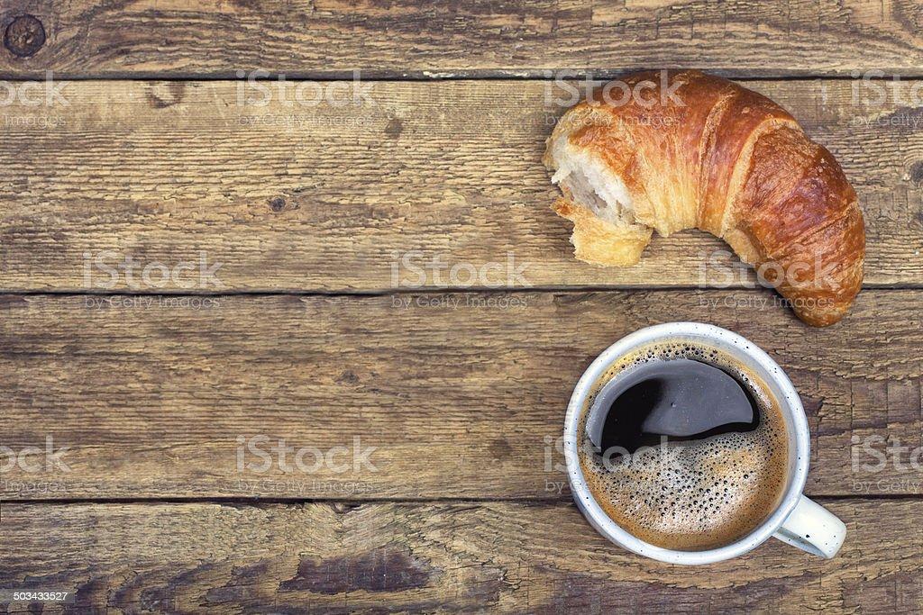 rustic breakfast stock photo