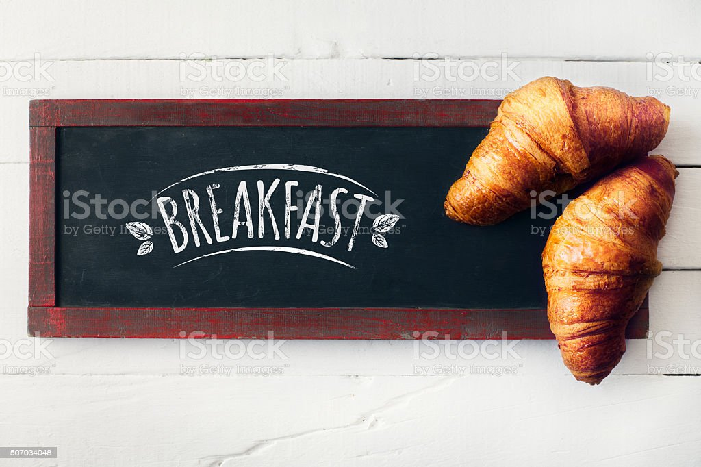 Rustic breakfast stock photo