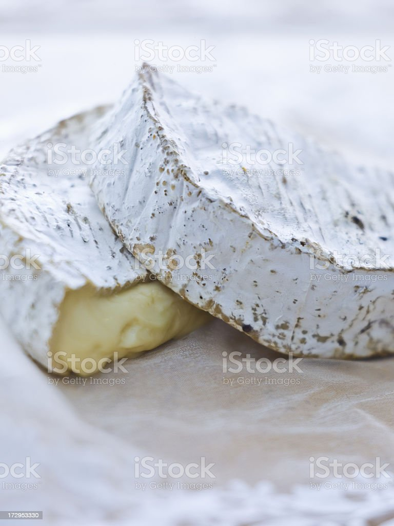 Rustic Brie Wheel stock photo