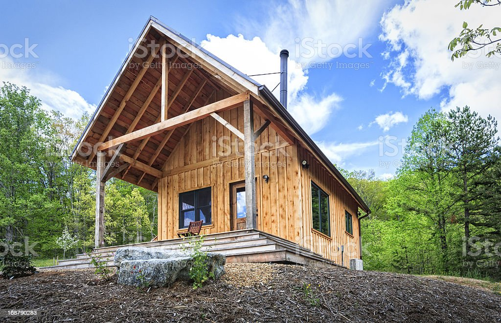 Rustic Cabin in the Blue Ridge Mountains royalty-free stock photo