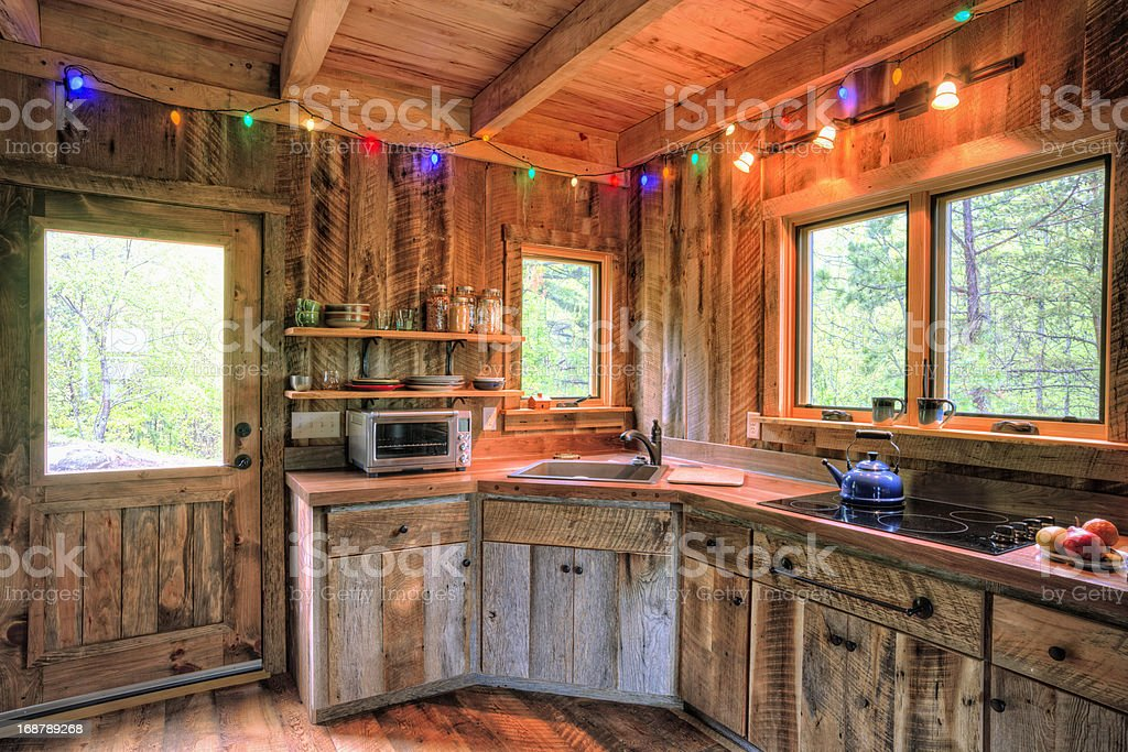 Rustic Cabin Kitchen royalty-free stock photo