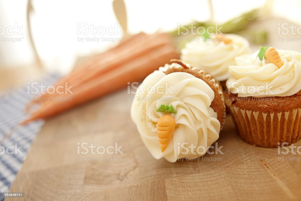 Rustic Carrot Cake Muffins stock photo