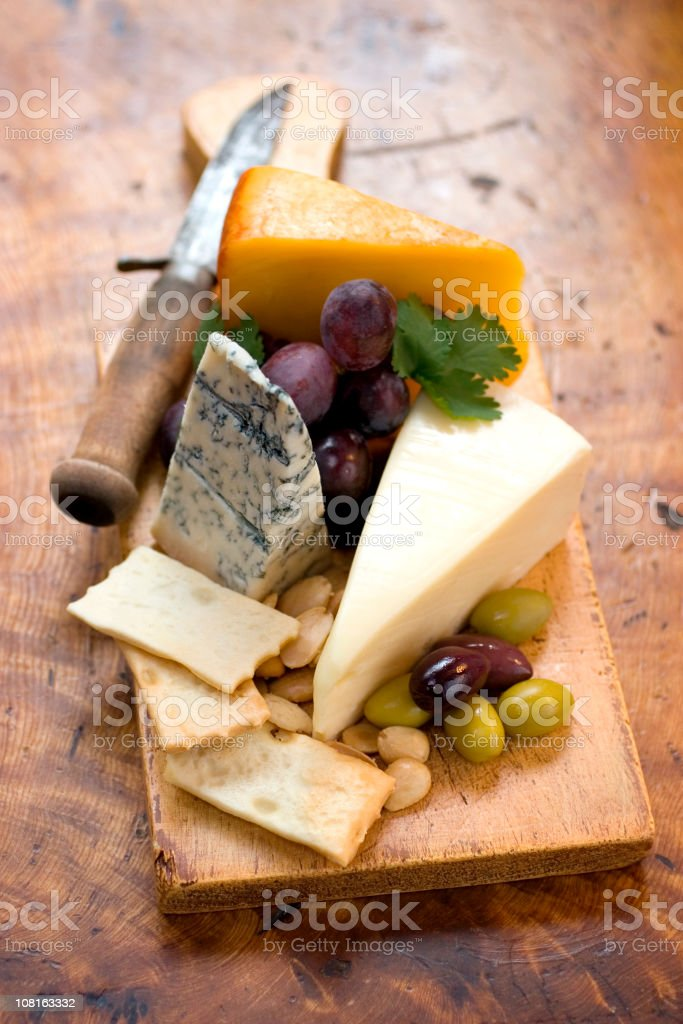 Rustic Cheese Plate royalty-free stock photo