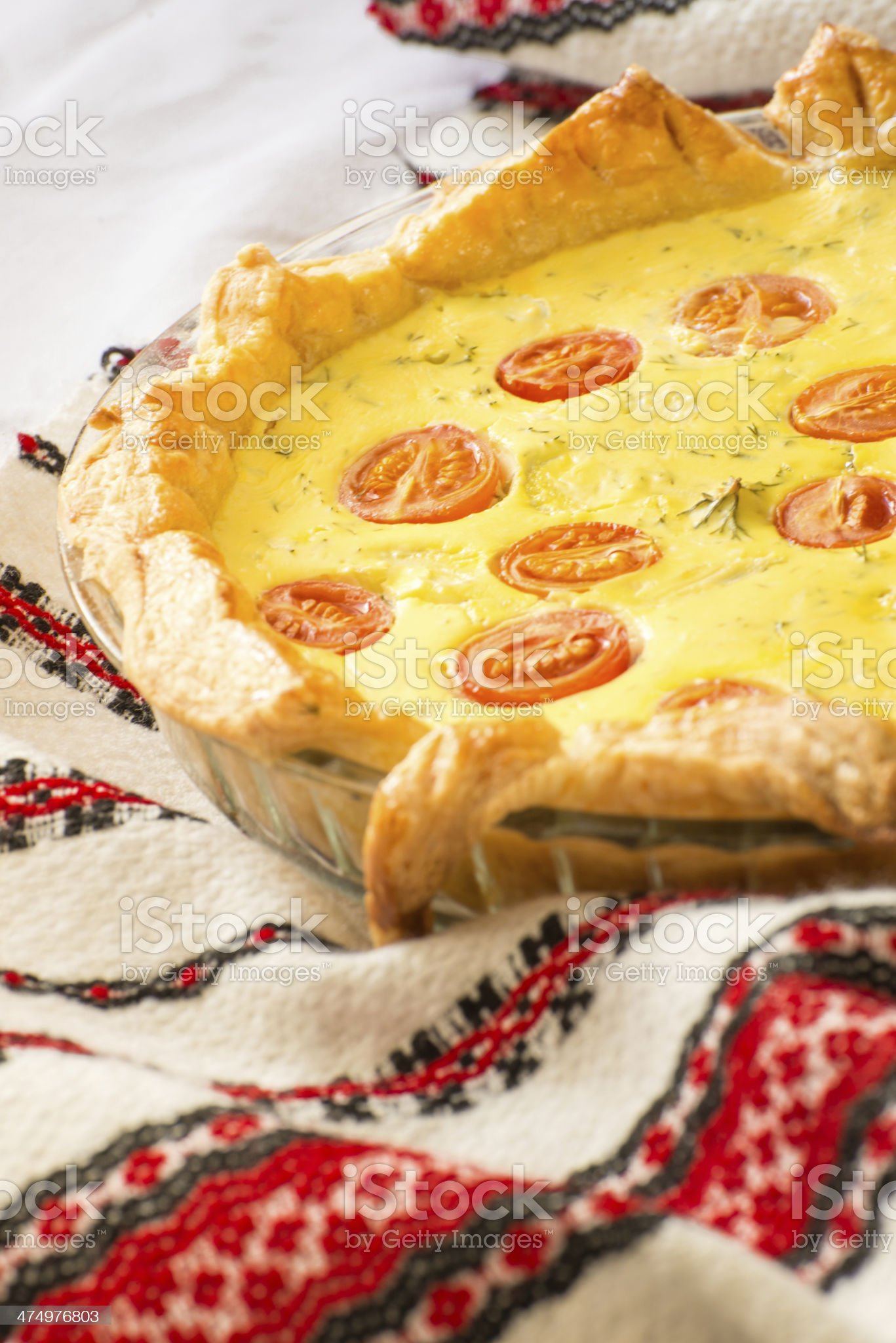Rustic cheese tart royalty-free stock photo