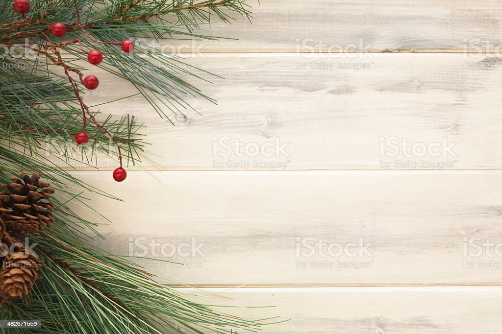 Rustic Christmas stock photo