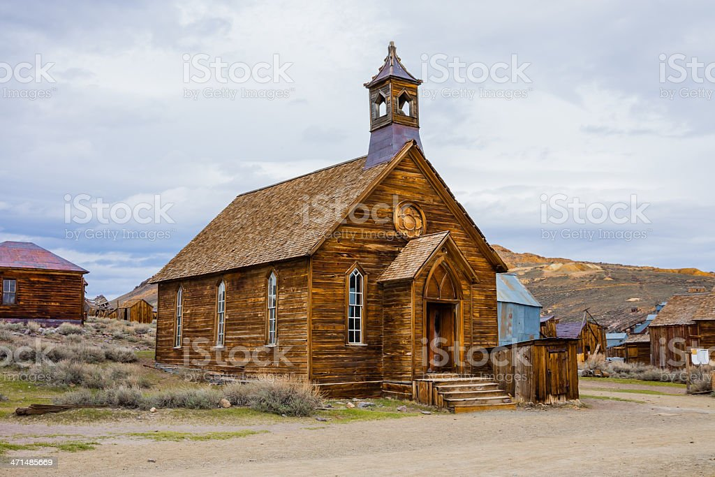 Rustic church stock photo
