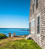 Rustic cottage in Maine with with ocean view