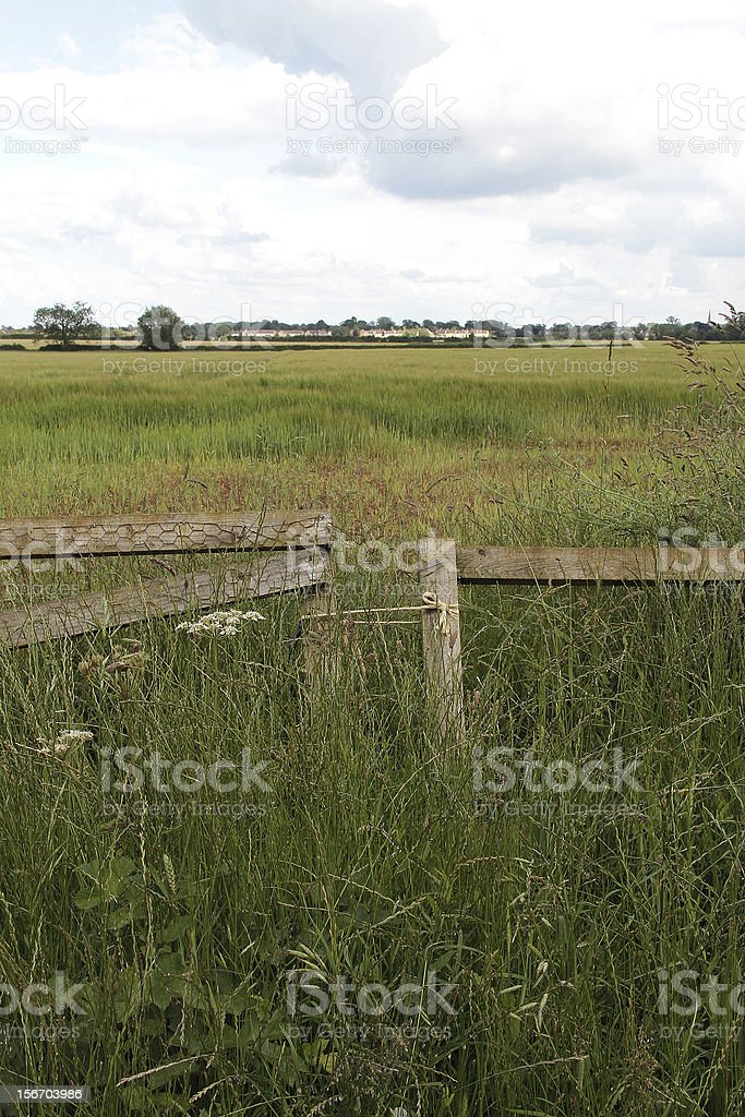 Rustico paese Gate, Lechlade foto stock royalty-free
