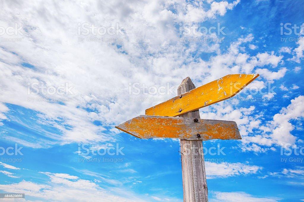 Rustic Crossroads Sign stock photo