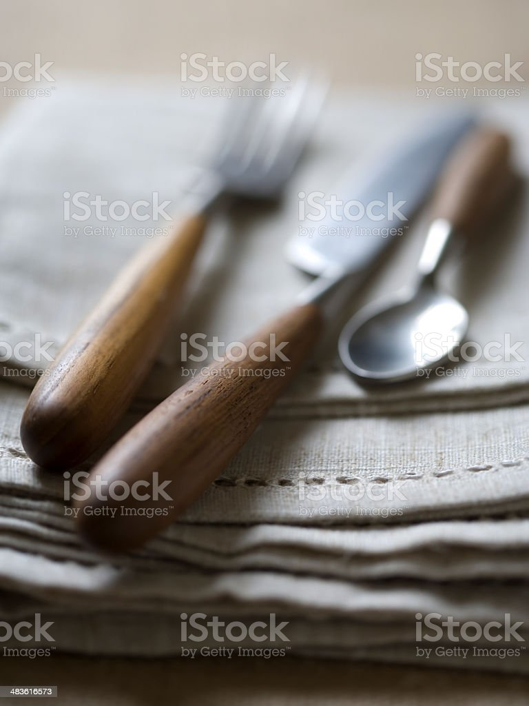 Rustic Cutlery royalty-free stock photo