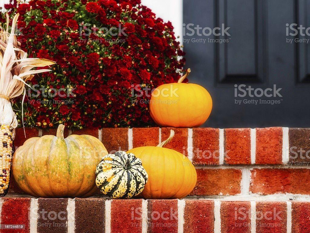 Rustic Decorations for Fall royalty-free stock photo