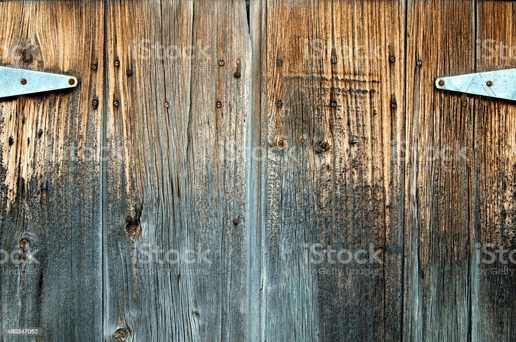Rustic Distressed Knotted Background Boards Detail stock photo