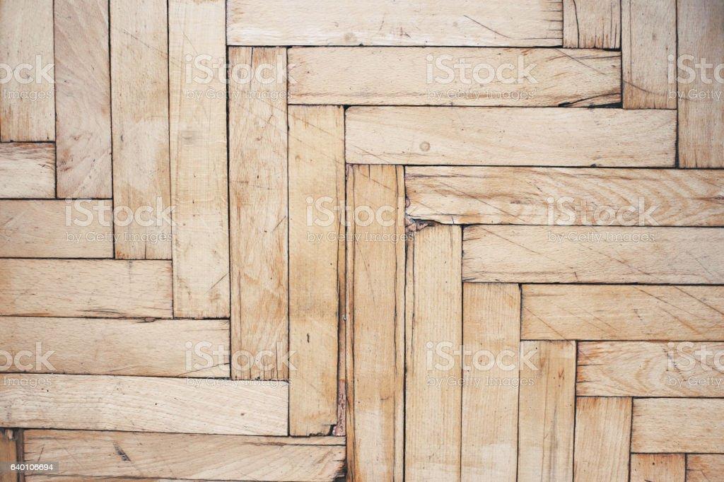 Rustic distressed wooden floor stock photo