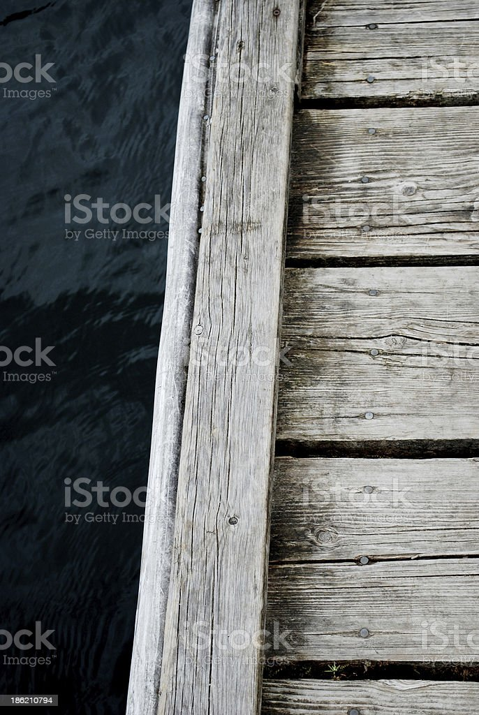 Rustic Dock close up royalty-free stock photo