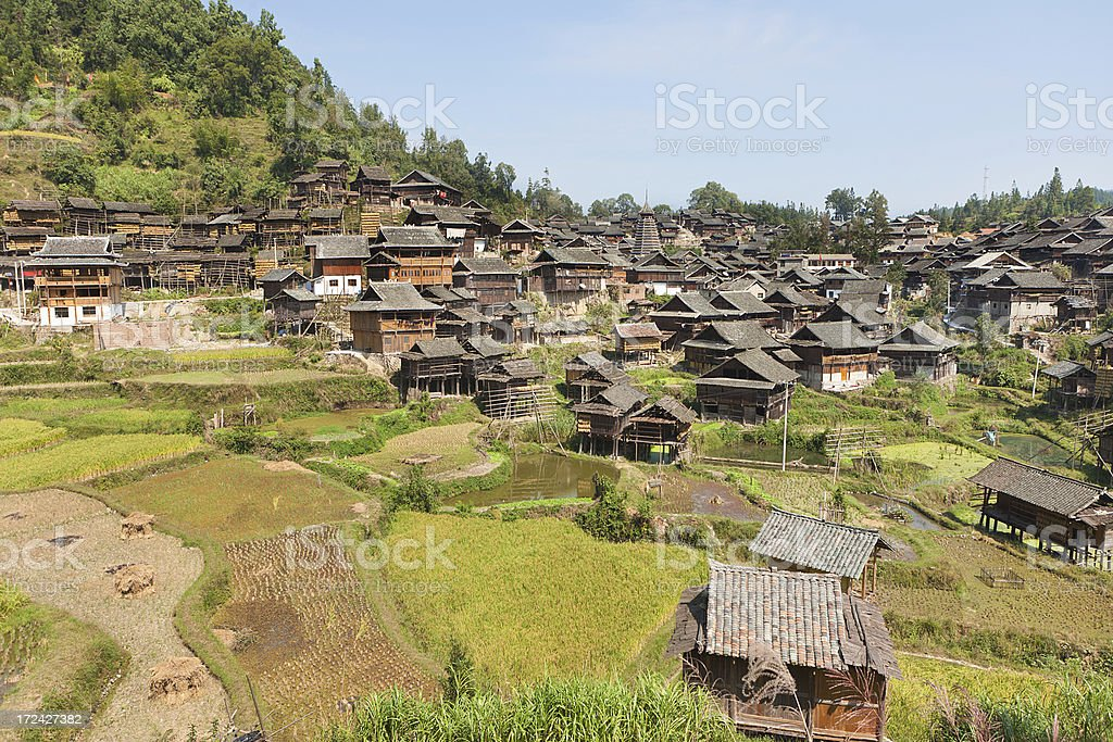 Rustic Dong village stock photo