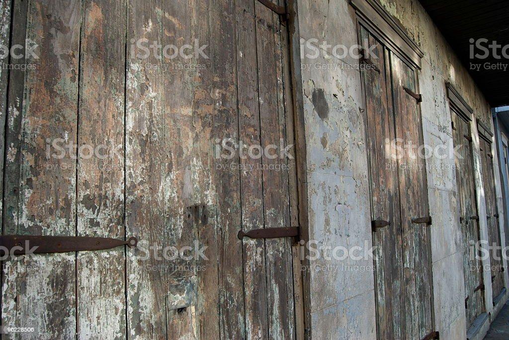 Rustic doors stock photo