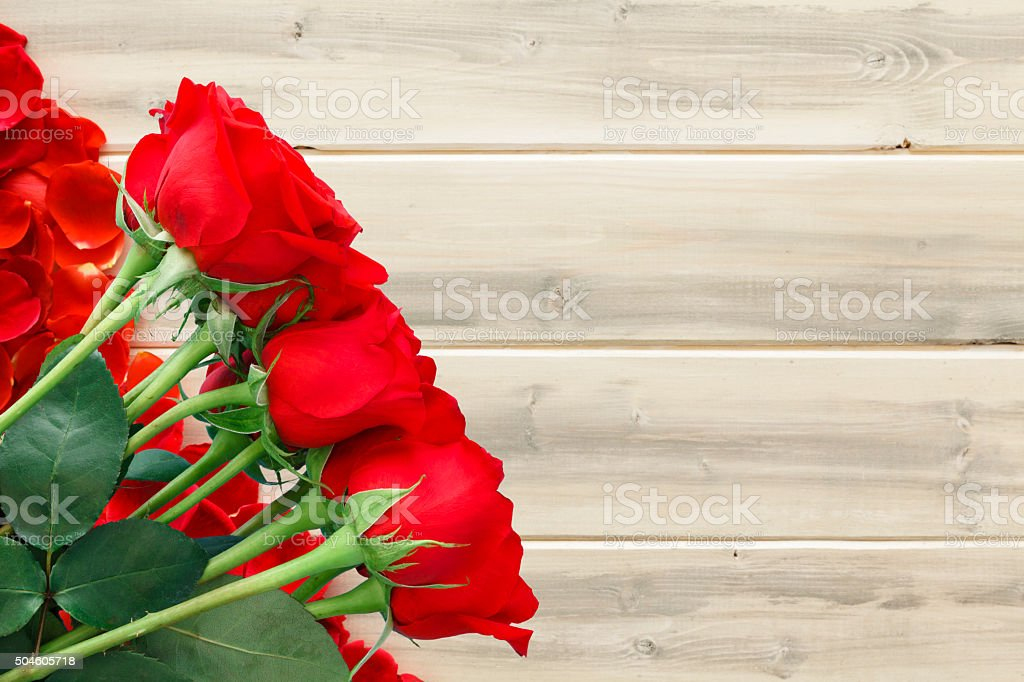 Rustic Dozen Roses stock photo