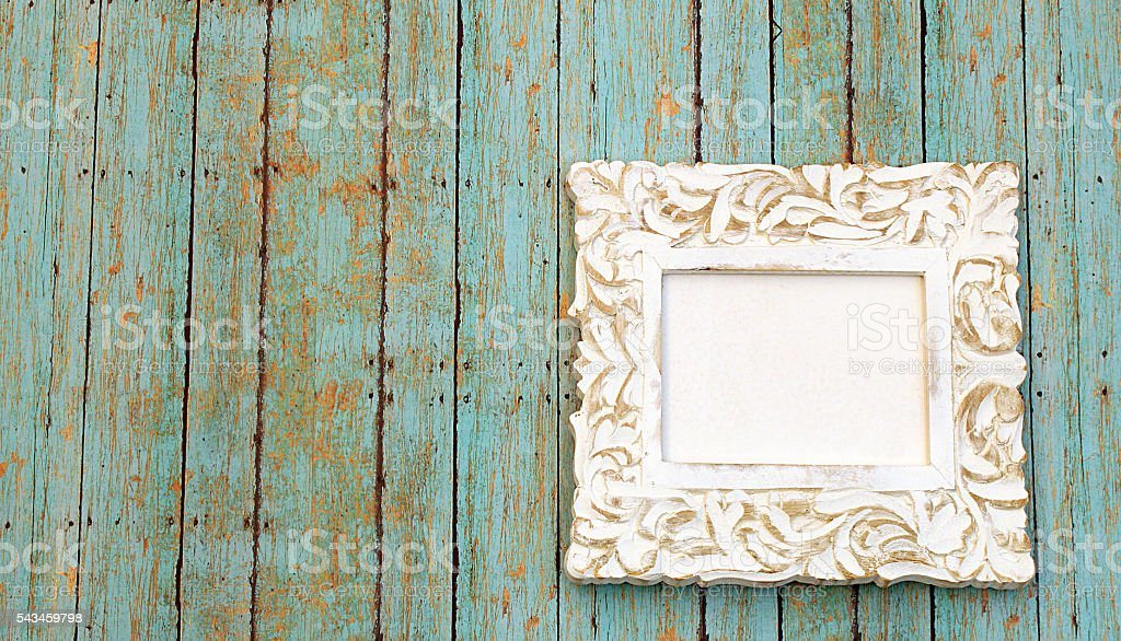 Rustic Empty Frame stock photo